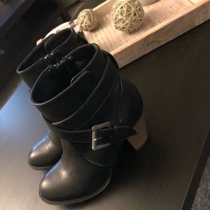 Nine West — Faux Leather Booties